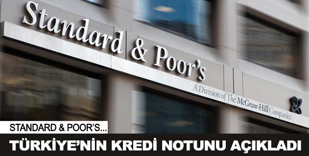 S&P Türkiyenin not görünümünü yükseltti