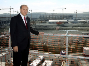 Erdoğan 3. Havalimanını inceledi