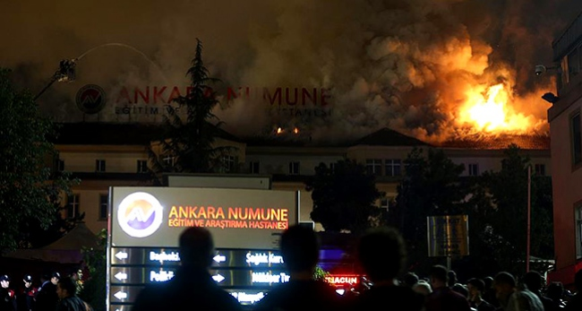 Ankara Numune Hastanesinde Yangın çıktı