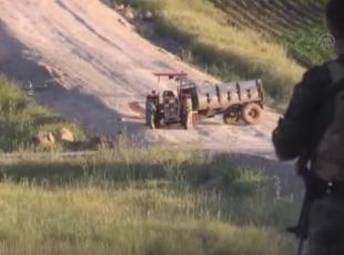Patlayıcı yüklü traktör ele geçirildi