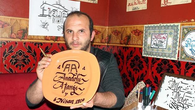 Azmi sayesinde kaligrafi ustası oldu