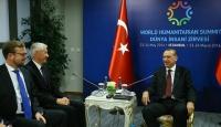 Cumhurbaşkanı Erdoğan, Jagland ve Al Saniyi kabul etti