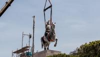 Burgibanın heykeli 29 yıl sonra eski yerinde