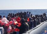 Akdenizde sığınmacılar kurtardı.