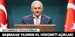 65. Hükümetin Bakanlar Kurulu açıklandı