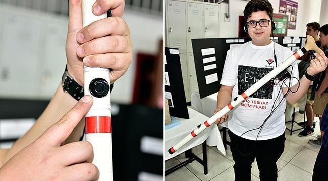 Ortaokul öğrencisinden engelliler için akıllı baston