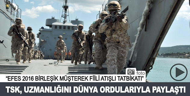 TSK, uzmanlığını dünya ordularıyla paylaştı
