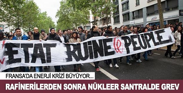 Fransada rafineriden sonra nükleer santralde grev