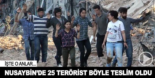 Nusaybinde 25 terörist böyle teslim oldu