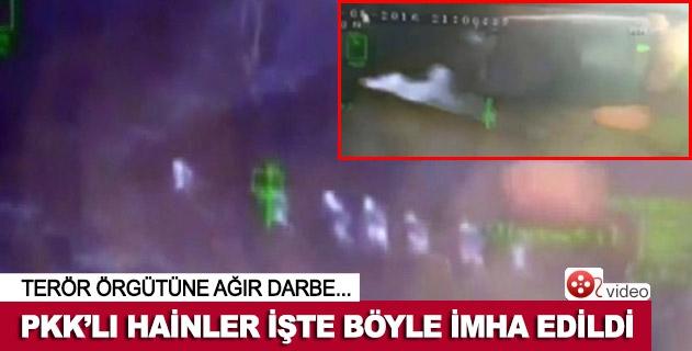 PKKlı hainlerin vurulma anı