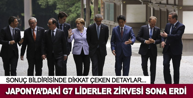 G7 Liderler Zirvesi sona erdi