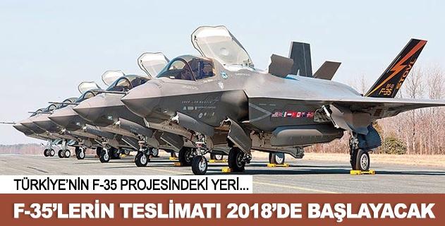 F-35lerin teslimatı 2018de başlıyor