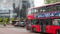 """""""Sübhanallah"""" ilanları Londra otobüslerinde"""