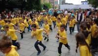 Kosovadaki koşuya binden fazla çocuk katıldı