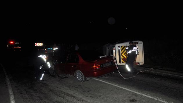 Düğün dönüşünde kaza: 1 ölü 14 yaralı