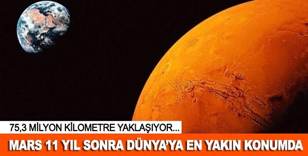 Mars 11 yıl sonra Dünyaya en yakın konumda