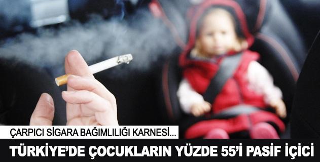 Türkiyede çocukların yüzde 55i pasif içici