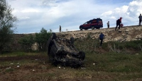 Bitliste kamyonet şarampole devrildi: 6 ağır yaralı