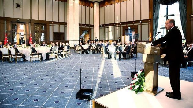 Erdoğan Sayıştay üyeleriyle bir araya geldi