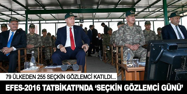 Cumhurbaşkanı Erdoğan Efes 2016 Tatbikatına katılıyor
