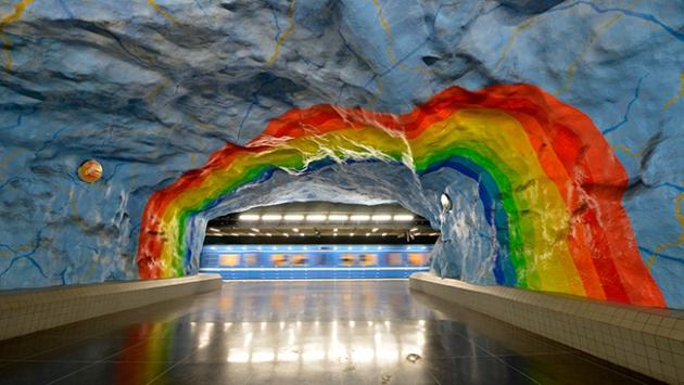 Metro değil sanki sanat galerisi