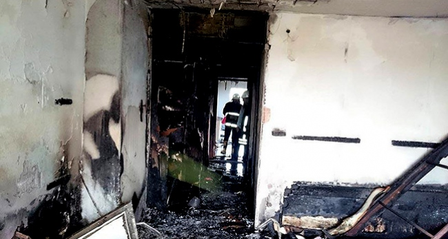 Otelde çıkan yangın güçlükle söndürüldü