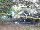 Devrilen traktörün sürücüsü yanarak can verdi