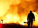 Başkent'te fabrika inşaatında yangın