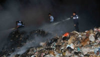 Muğlada çöplük alanda yangın