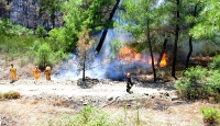 Erentepe ve Adrasandaki yangın kontrol altında