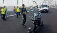 Kenan Sofuoğlu, Osmangazi Köprüsünde test sürüşü yaptı