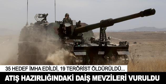 Türkiyeye atış hazırlığındaki DAİŞ hedefleri vuruldu