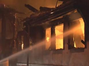 Bursada metruk yangın
