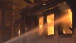 Bursa'da metruk yangın