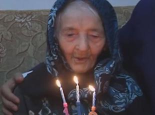 113üncü yaşında pasta kestiler