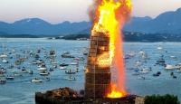 """""""Dünyanın en büyük ateş"""" rekoru"""