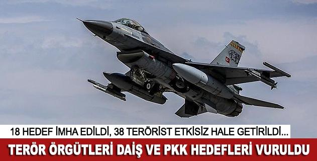 TSK, DAİŞ ve PKK hedeflerini vurdu