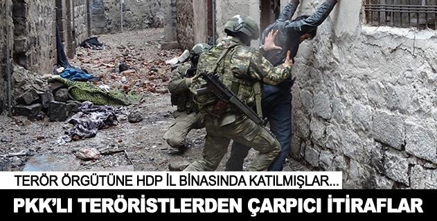 Teslim olan PKKlı teröristlerden çarpıcı itiraflar