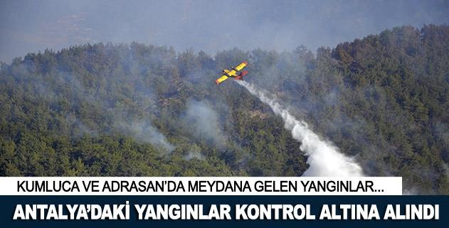 Kumluca ve Adrasandaki yangınlar kontrol altına alındı