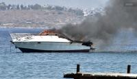 Yanan yattakileri sahil güvenlik ekipleri kurtardı