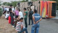Elazığda yolcu otobüsü devrildi: 27 yaralı