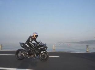 Kenan Sofuoğlu, Osmangazi Köprüsünden 400 kilometre hızla geçti