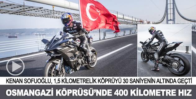 Osmangazi Köprüsünden 400 kilometre hızla geçti