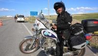 Engelliler için motosikletiyle Türkiyeyi dolaşıyor