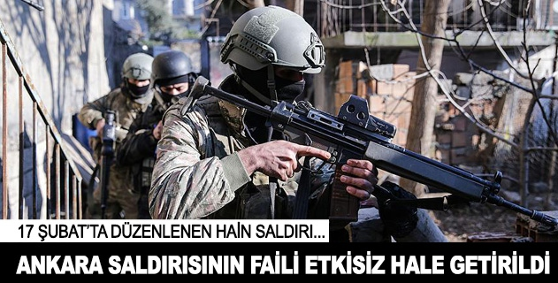 Ankarada düzenlenen saldırının faili terörist etkisiz hale getirildi