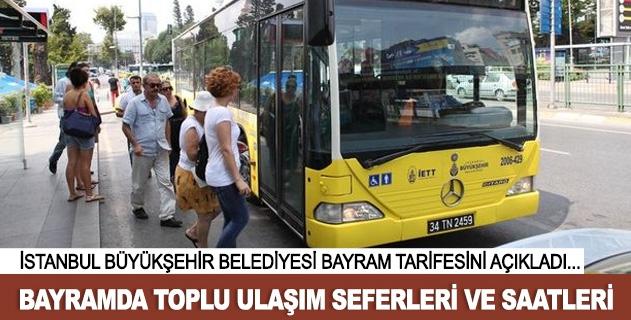 İstanbulda Ramazan Bayramı sefer saatleri ve tarifesi