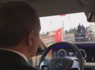Cumhurbaşkanı Erdoğan, Osmangazi Köprüsünde test sürüşü yaptı