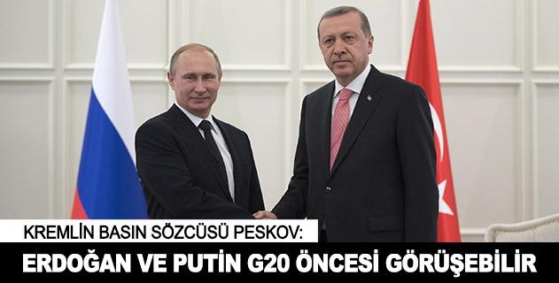 Erdoğan ve Putin G20 öncesi görüşebilir