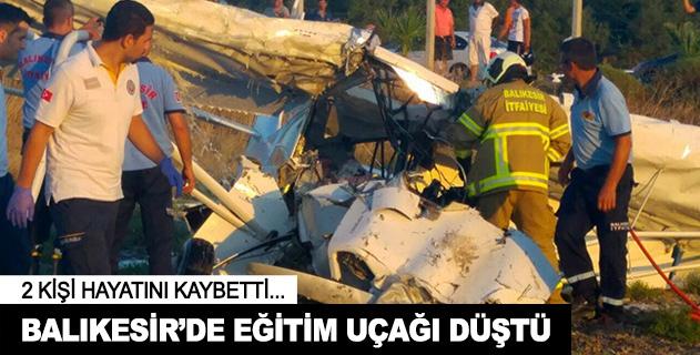Balıkesirde eğitim uçağı düştü: 2 ölü