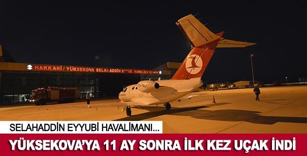 Selahaddin Eyyubi Havalimanına 11 ay sonra ilk kez uçak indi